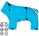 Skafander niebieski SOFTSHELL r.13/74cm
