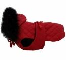 Derka czerwona pikowana z futrem r.1/21cm