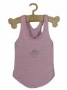 T-shirt różowy/bia paski PAW cyrkonia r.0/1,3 kg