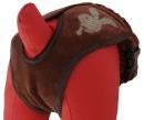 Majtki na cieczke brązowe BUNNY r.1(XS)(30-38cm)