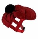 Czapeczka czerwona pikowana r.2/18-25cm