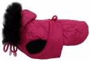 Derka różowa pikowana z futrem r.0/18cm
