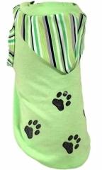 T-shirt paski zielone/łap