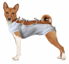 Koszulka pooperacyjna dla psa r.3(M)(szara)/36cm